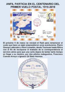 Centenario del primer vuelo postal