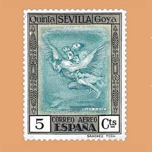 00517 Quinta de Goya Exposición de Sevilla Sello 5cts. 1930