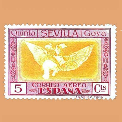 00518 Quinta de Goya Exposición de Sevilla Sello 5cts. 1930