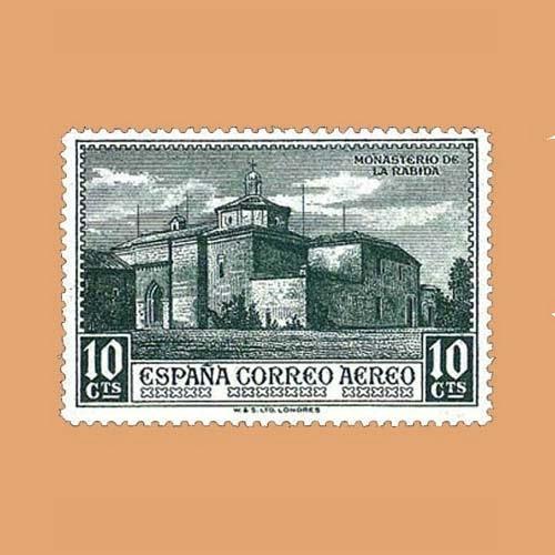 Edifil 549 Descubrimiento de América Sello 10cts. 1930 verde oscuro