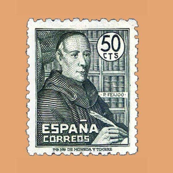 Edifil 1011 Padre Benito J. Feijoo Sello 50cts. ** 1947
