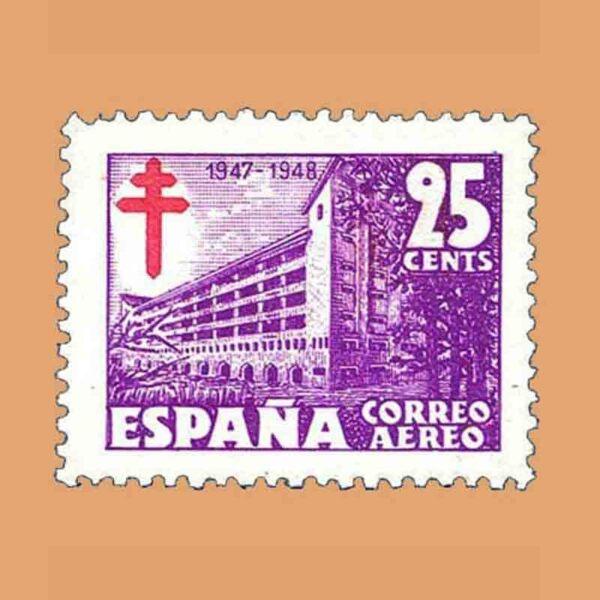 Edifil 1017-1019 Serie Pro tuberculosos 1946 3 valores