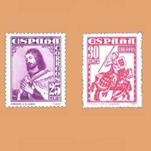 Edifil 1033-1034 Serie Personajes 1948 2 valores