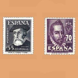 Edifil 1035-1036 Serie Personajes 1948 2 valores