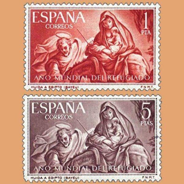 Edifil 1326-1327. Serie Año Mundial del Refugiado. 1961