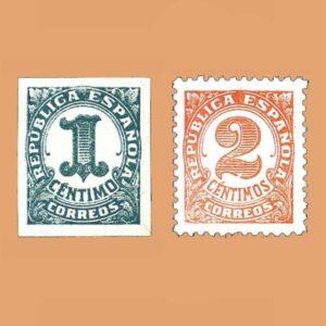 Edifil 677-678 Serie Cifras Para impresos 1933