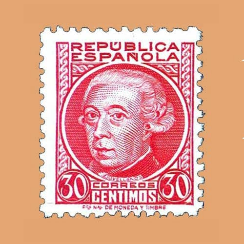 Edifil 687 Personajes Melchor de Jovellanos Sello 30cts. 1933 carmín