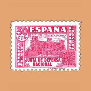 Edifil 808 Junta de Defensa Sello 30cts. 1936 rosa