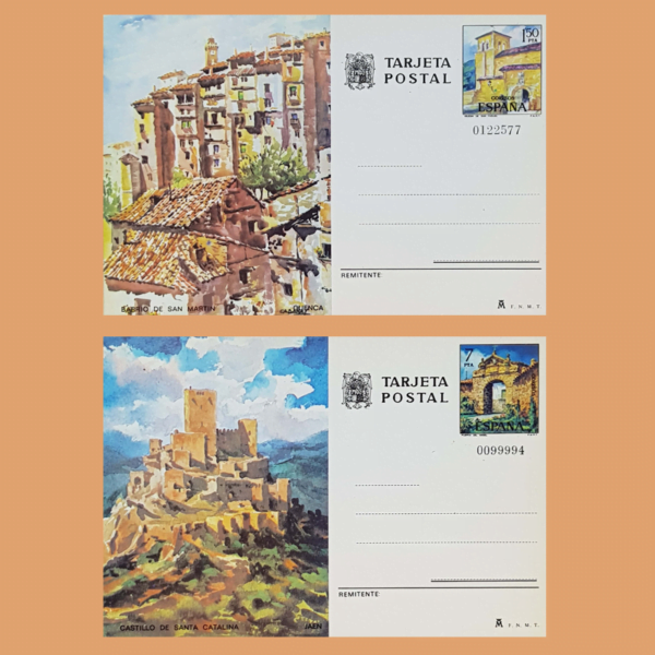 Enteros Postales 111-112. Turismo. Cuenca, Jaén. 1975