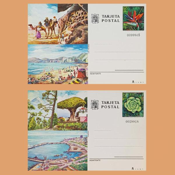 Enteros Postales 115-116. Turismo. Gran Canaria, Tenerife. 1977