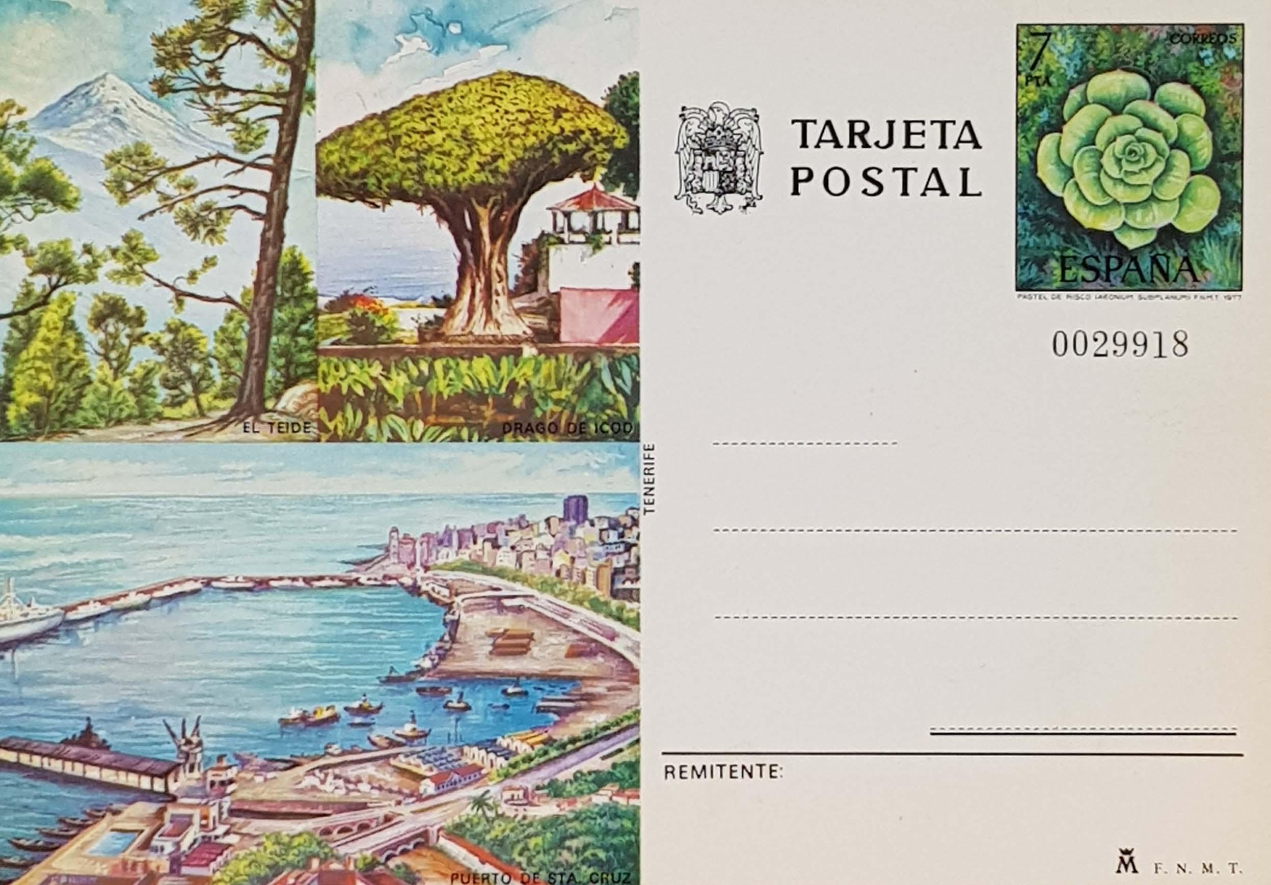 Enteros Postales 116. Turismo. Tenerife. 1977