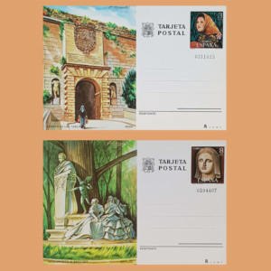 Enteros Postales 117-118. Turismo. Ibiza, Sevilla. 1978