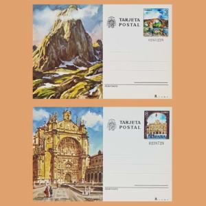 Enteros Postales 119-120. Turismo. Asturias, Salamanca. 1979