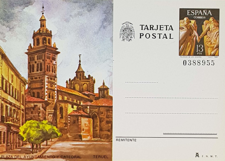 Enteros Postales 123-124. Turismo. Logroño, Teruel. 1980