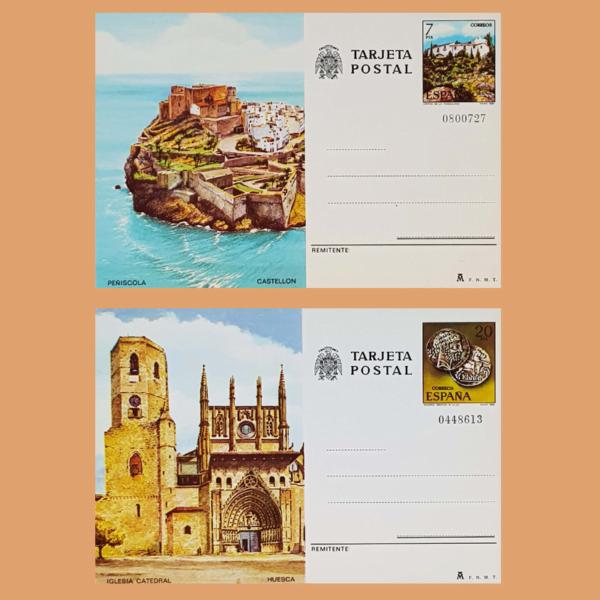 Enteros Postales 125-126. Turismo. Castellón, Huesca. 1981