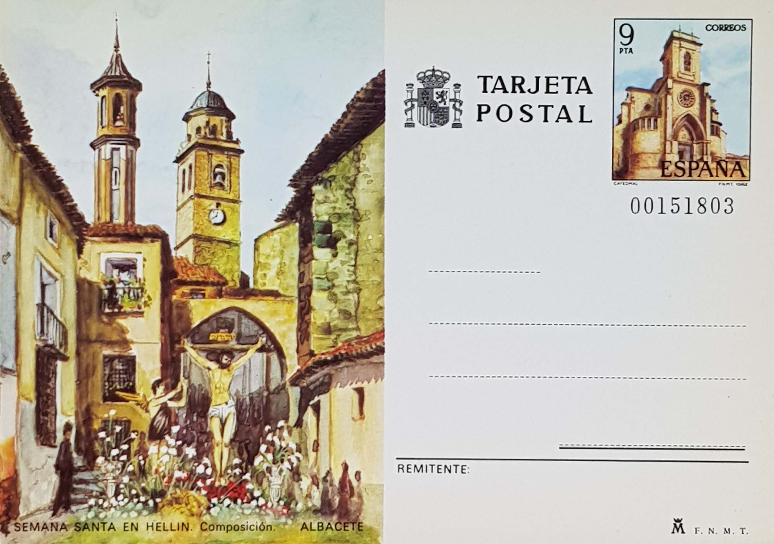 Enteros Postales 127. Turismo. Albacete. 1982