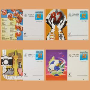 Enteros Postales 129-132. España'82. Copa Mundial de Futbol 1982