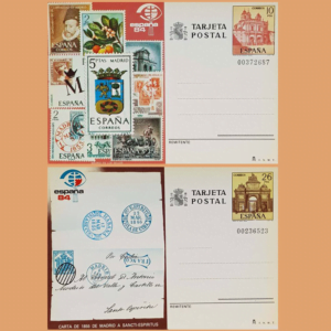 Enteros Postales 135-136. Exposición Mundial de Filatelia. 1984
