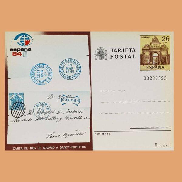 Enteros Postales 136. Exposición Mundial de Filatelia. 1984