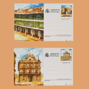 Enteros Postales 141-142. Turismo. Ciudad Real, Navarra 1986
