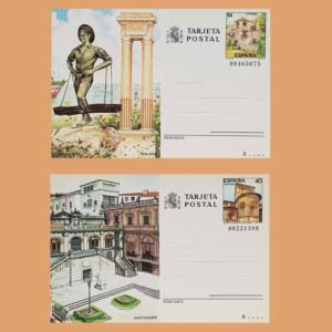Enteros Postales 143-144. Turismo. Málaga, Santander 1987
