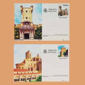 Enteros Postales 145-146. Turismo. Cádiz, Tarragona 1988
