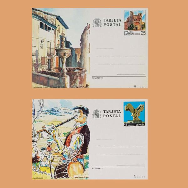 Enteros Postales 151-152. Turismo. Guadalajara, San Sebastián 1991