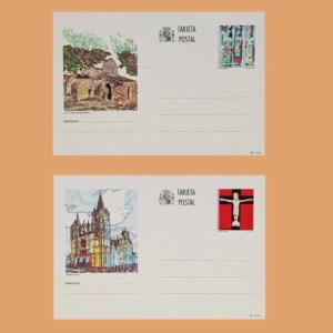 Enteros Postales 155-156. Turismo. Orense, León 1993