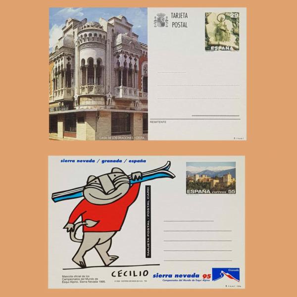 Enteros Postales 157-158. Turismo. Ceuta, Granada 1994