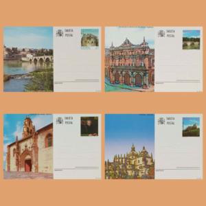 Enteros Postales 163-166. Zamora, Palencia, Burgos Segovia 1997