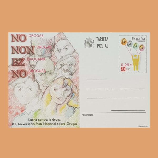 Enteros Postales 175. XX Aniversario Plan Nacional Drogas. 2006