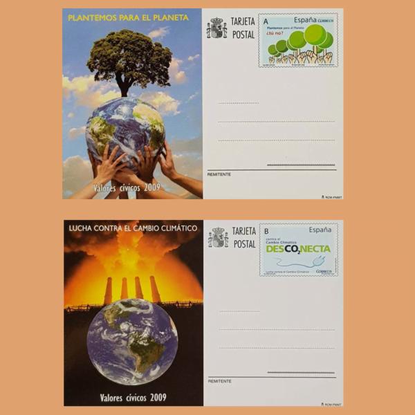 Enteros Postales 180-181. Valores Cívicos. 2009