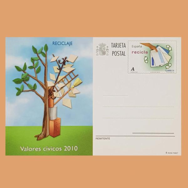 Enteros Postales 183. Valores Cívicos. 2010