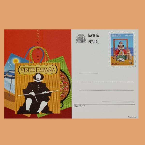 Enteros Postales 190. Europa. Visite España Velazquez. 2012
