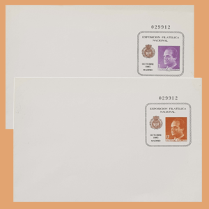 Sobre Enteros Postales 1-2. EXFILNA 1985