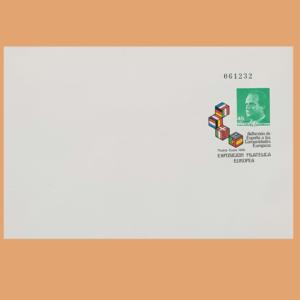 Sobre Enteros Postales 3. Exposición Filatélica Europea 1986