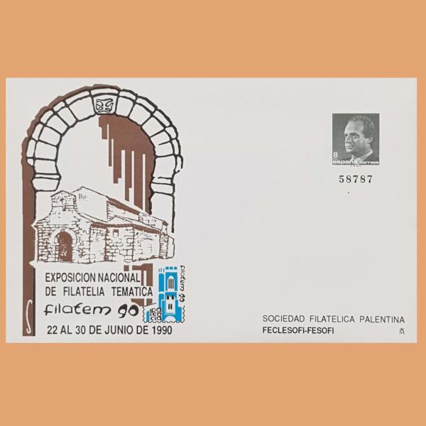 Sobre Enteros Postales 16. FILATEM 90. Palencia, 22 al 30 Junio 1990