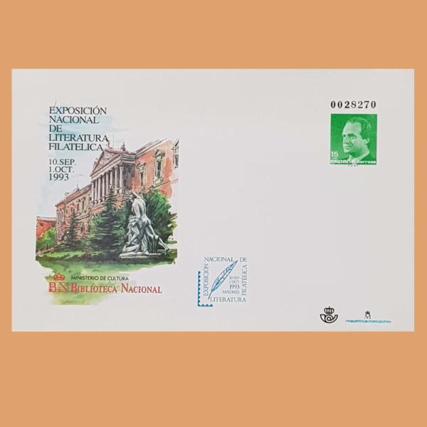 Sobre Enteros Postales 19. Exposición Literatura Filatélica. Madrid, 1993