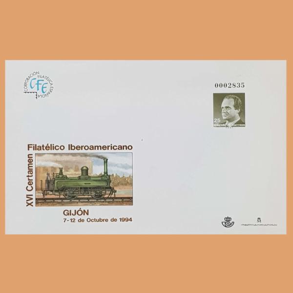 Sobre Enteros Postales 22. XVI Certamen Filatélico Iberoamericano. 1994