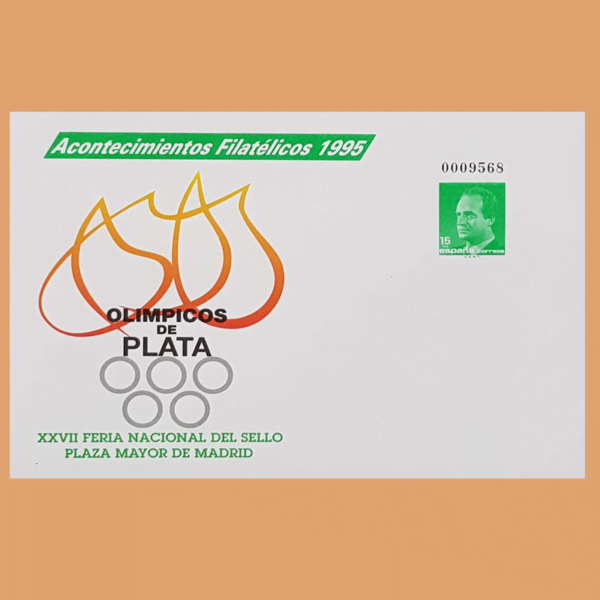 Sobre Enteros Postales 27A. Acontecimientos Filatélicos 1995. Olímpicos de Plata 1 Sobre Acontecimientos Filatélicos. XXVII Feria Nacional del Sello. Madrid, 1995. Motivo