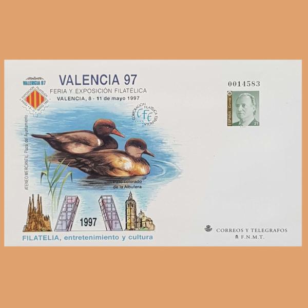 Sobre Enteros Postales 40. VALENCIA'97. Feria y Exposición Filatélica 1997