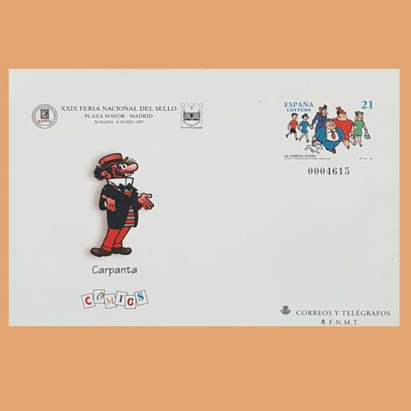 Sobre Enteros Postales 41. XXIX Feria Nacional del Sello. Madrid 1997