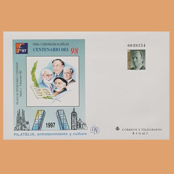 Sobre Enteros Postales 43-44. Centenario del 98. Madrid, 4-8 Diciembre 1998