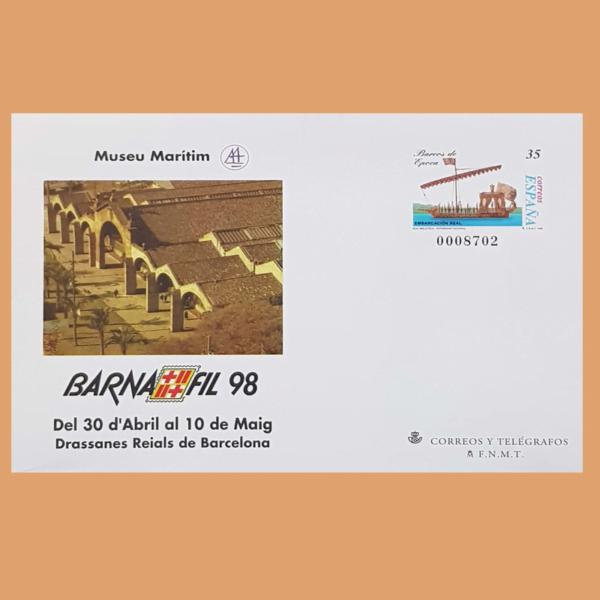 Sobre Enteros Postales 45. BARNAFIL 98. Barcelona, 30/4-10/5 1998