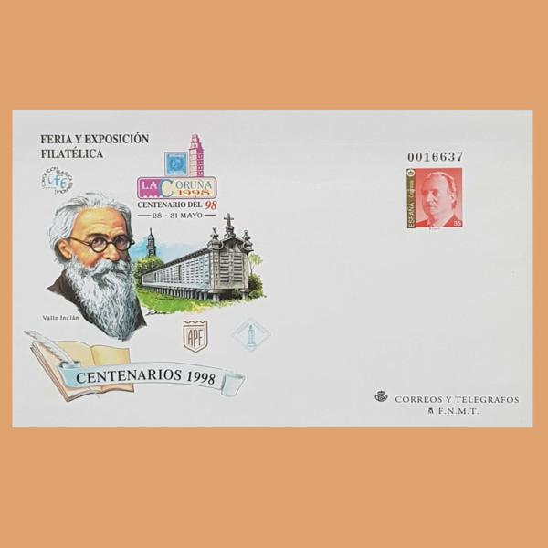 Sobre Enteros Postales 46-47. La Coruña 1998. Centenarios