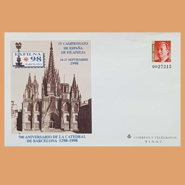 Sobre Enteros Postales 48. EXFILNA 98. Barcelona, 18 al 27 Septiembre 1998