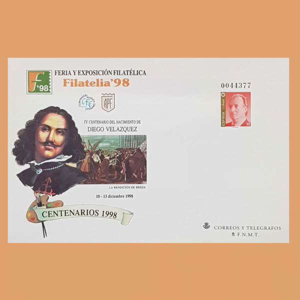 Sobre Enteros Postales 50-51. Filatelia 98. Madrid, 10-13 Diciembre 1998