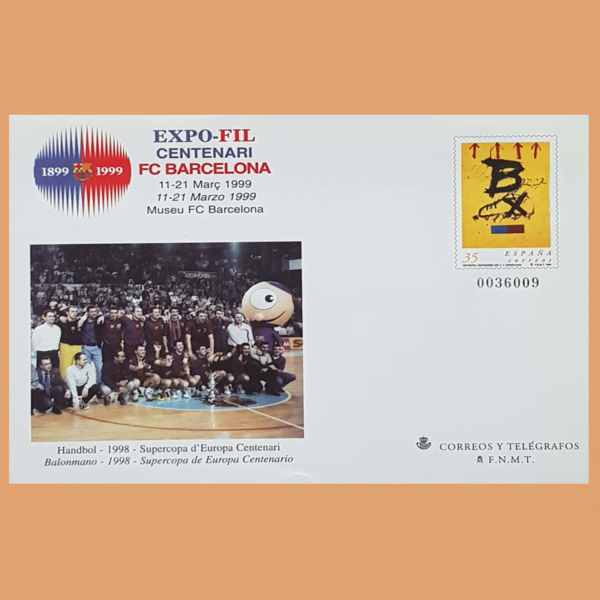Sobre Enteros Postales 52. EXPOFIL 1999. Centenari F.C. Barcelona