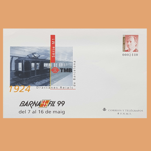 Sobre Enteros Postales 53. BARNAFIL 99. Barcelona, 7-16 Mayo 1999