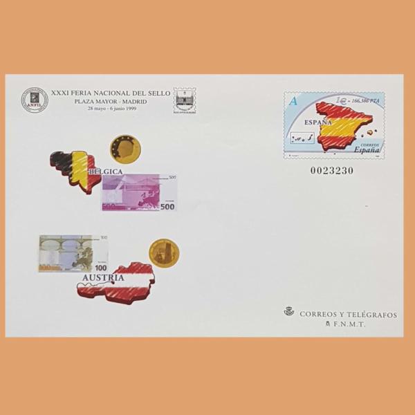 Sobre Enteros Postales 54. XXXI Feria Nacional del Sello. Madrid, 1999